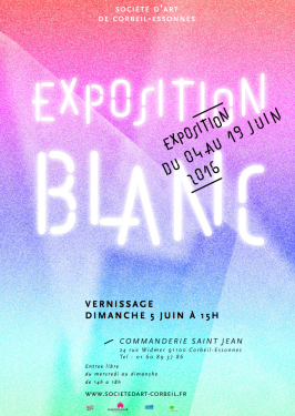 AFFICHE EXPO BLANC 2016